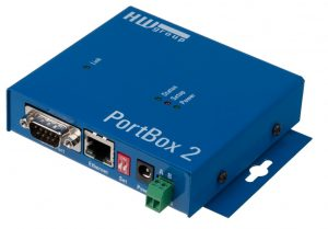 HW group PortBox 2 - RS-232 RS485 Serial to Ethernet Port