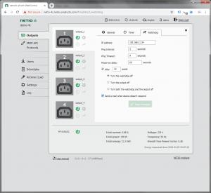 Web Interface NETIO PowerPDU 4C